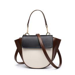 Крылатые сумочки онлайн-Pop2019 женская кожа из натуральной косой сумки Street Time Wing Package Joker сумка на одно плечо