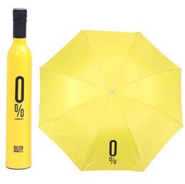 Bumbershoot criativo garrafa de vinho arqueado guarda-chuva de sol de alta qualidade guarda-chuva de proteção solar presente personalizado publicidade fábrica de guarda-chuva atacado supplier advertising bottle de Fornecedores de garrafa de publicidade