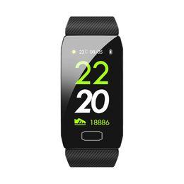 Compteurs de pression en Ligne-Bandes de montres intelligentes Q1 Bracelet intelligent Fitness Tracker Cardiofréquencemètre Cardiofréquencemètre Oxygène Surveillance du sommeil Temps d'appel IP67 Étanche