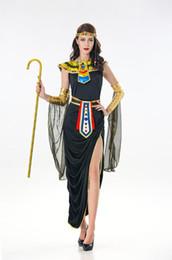 2019 deluxe Sexy Ladies Fancy Dress Cleópatra Egito Womens Costume Deusa Costume egípcio Egito Rainha Cosplay de Fornecedores de jaquetas de rainha amarela