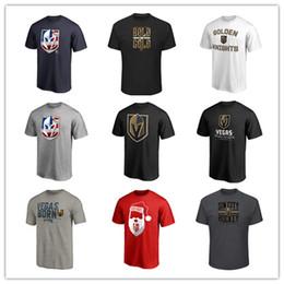 Ventilador ventilador rojo online-18 19 Hombres Vegas Golden Knights Camisetas de marca Camisetas de hockey Negro Rojo Gris Cool 2019 hombres Fans Top Tees Sport Shirts Logos impresos