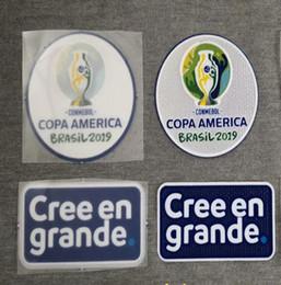 2019 Copa américa brasil remendo conmebol futebol jerseys patch emblema de transferência de calor de Fornecedores de brinquedo de carro de madeira atacado
