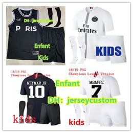gilets de football Promotion Jordan Paris soccer jersey Sets maillot 2019 child Maillot de foot psg MBAPPE football shirt vest champions Jersey