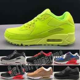 buy online 7e5e8 c5d3a Nike airmax shoes men women Chaussures de sport pour hommes classic 90  hommes et femmes chaussures de marque verte blanche ...