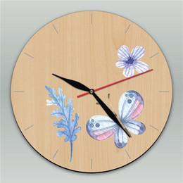 Papillon horloge murale design moderne en Ligne-Beautiful Butterfly Custom Clock Wall Hanging Decor Clock Retro Wooden Wall Clock Modern Design