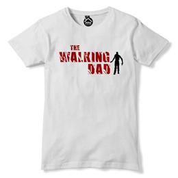 2019 dia por atacado morto The Walking Dad Dia dos Pais Zombie Apocalipse Gaming Tshirt Dead Walkers 219 frete grátis T barato T atacado barato, dia por atacado morto barato