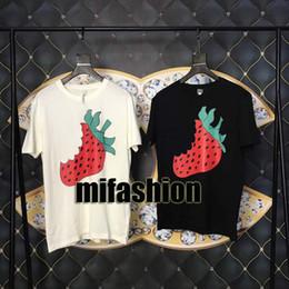 Argentina 19ss Lujo Europa Italia Fresas Camiseta Moda Mujer Ropa Hombre Diseñador Camisetas Casual Cotton Tee Top Suministro