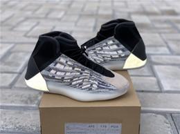 2019 scarpe da basket di kanye west 2019 Nuove scarpe da basket Quantum EG1535 Scarpe da ginnastica nere Zebra Kanye west 3M Sport Riflettenti Chaussures sportive Scarpe da ginnastica da uomo scarpe da basket di kanye west economici