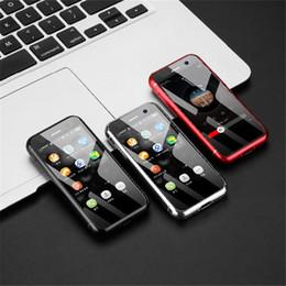 Smartphone schlank online-Neues kleinstes 4G LTE Smartphone Melrose S9 plus 2,45 Zoll Ultra Slim Mini-Handy MTK6737 1 GB 8 GB 32 GB Android 7.0 Fingerabdruck-Mobiltelefon