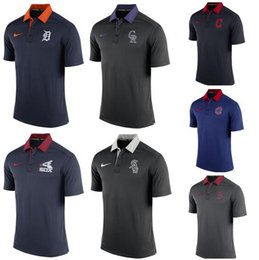 Homens indianos da camisa de t on-line-Detroit Colorado Cleveland Chicago Boston Red Men Sox Cubs Índios Montanhas Rochosas Tigres Early Season TeamIssue Performance Polo T-shirt