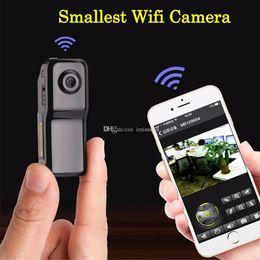 caméra cachée de vision nocturne sans fil Promotion Mini caméra MD81S Caméscope Wifi IP P2P Sans fil DV Caméra Enregistrement Secret CCTV Android iOS Caméscope Vidéo Espia Nanny Candid