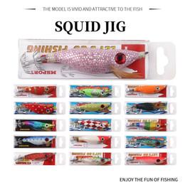 16 couleurs pêche leurre calmar leurres bois crevettes appât Wobbler crochet lumineux calmar crochet légers pour la pêche à la pêche ? partir de fabricateur