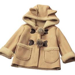 Mês jaqueta inverno on-line-Bebés Meninos Jacket roupa de Inverno 0-24 meses Brasão Casacos de algodão grosso crianças de veludo Roupa Crianças Roupa Quente
