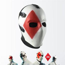 benutzerdefinierte cosplay stiefel Rabatt Halloween Poker Face Mask Kopfbedeckung Lustige COSPLAY Props Horror Masken Thriller Rotocast Unisex Masken für Halloween-Party