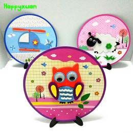 juguetes educativos de tela Rebajas Happyxuan 6 unids Diy Felt Fabric Craft Kit 3d Juegos de Animales Niños Kinder Creativo Juguetes Educativos de Aprendizaje Temprano Nuevo 2019 J190521