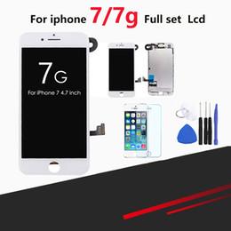 1 unids LCD para iPhone 7 / 7G Pantalla Set completo Digitalizador Asamblea Reemplazo de pantalla táctil + Cámara frontal + Auricular desde fabricantes