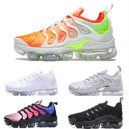 2019 zapatos frescos para correr Nike Air TN Plus 2018 TN Plus para hombre para mujer Deportes Maxes Zapatillas de correr Zapatillas Chaussure Inverso Puesta de sol Frío Gris Triple Blanco Sé verdadero zapatos frescos para correr baratos