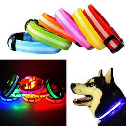 Recentemente 1 Pz Pet Dog LED Collar Neck Strap lampeggiante Forniture di sicurezza luminose per esterni da