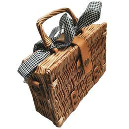 borsa ricamata a mano Sconti New-Summer Bali Borsa in vimini intrecciata a mano Borsa a tracolla ricamata a spalla Borsa da spiaggia in vimini Boemia Borsa quadrata rotonda