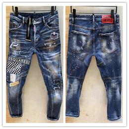 Calças de brim dos homens elegantes on-line-2020 nova marca de moda casual jeans europeus e americanos dos homens d2, lavagem de alta qualidade, moagem pura mão, otimização da qualidade LT891