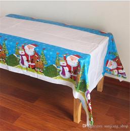 2019 toalha de crochet quadrada Toalha de Mesa de Jantar descartável de Natal À Prova D 'Água Mesa de Jantar Pano Retangular Mesa Cobre Decorações de Natal para Casa Partido