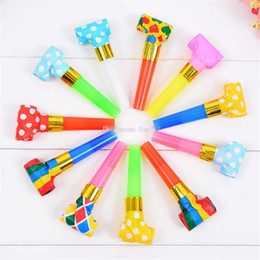 kids wholesale goodies Coupons - 100PC 6.5cm Birthday Party MultiColor Party Blowouts Whistles Kids Favors Decoration Supplies Noice maker Toys Goody Bags Pinata kids toys