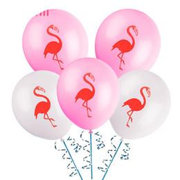 """Brinquedos de festa de galinhas on-line-12 """"Flamingo Impresso Rosa Branca de Látex Balão Partido Hen Acessórios Bachelorette Party Party Supplies Presentes Itens Brinquedos para Adultos"""