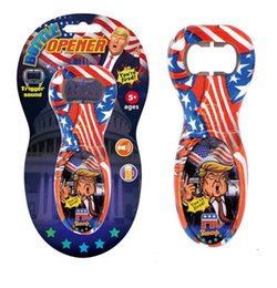 Fumetto di apertura della bottiglia online-Trump Bottle Opener Precident Donald Trump Beer Bottle Openers With Sound Voice Novelty Cartoon Beer Bottle Opener GGA2343