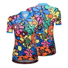 2019 conjuntos de jersey de ciclismo anti-bacterianos Manga curta Camisa de Ciclismo para As Mulheres Flor-impresso Quick Dry Verão MTB Bicicleta Camisa de Equitação Roupas Camisa Equitacion Ropa Y8376-XL