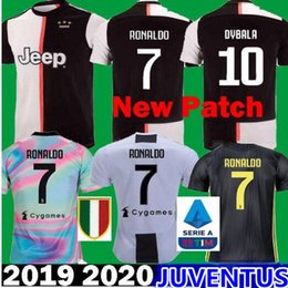 29e7d3344 TOP RONALDO Juventus 2019 player version Champion league soccer jerseys  DYBALA 19 20 EA Sports football kit shirt MEN WOMEN KIDS JUVE