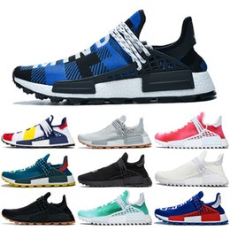 Pharrell venta nmd online-Adidas NMD Human Race pharrell williams Hombres Zapatos para correr Venta caliente Creme nerd Digijack Pack Azul Know Soul in Volt Mujeres Zapatillas tamaño 36-47