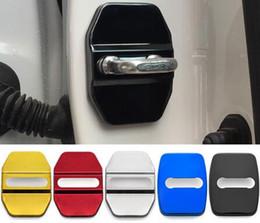acessórios mercedes benz Desconto Estilo do carro Auto Tampa Da Fechadura Da Porta Adesivo Fit For Bmw M Mini F30 F10 E46 E90 E39 Para Mercedes Benz Amg Para Fiat Acessórios