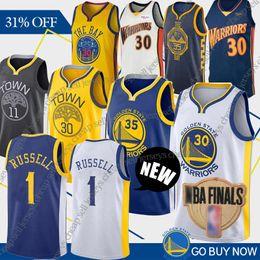 Green basketball en Ligne-NCAA 1 Russell 130 Curry 35 Durant Maillots Basketball Warrior 23 Vert 11 Thompson 9 Maillots Université lguodala