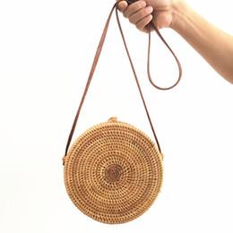 Делать соломинку онлайн-Мешок из ротанга Ins ручной работы из трости составляет пакет пляжных сумок Aslant Соломенная женская сумка baoyuan на плече