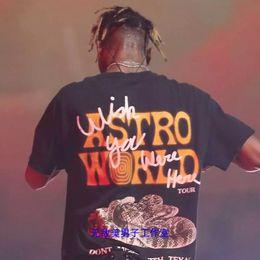Hip-hop-look online-Exklusives Houston-Hemd Travis Scott Astroworld SCHAUEN SIE MAMMA ICH KANN FLIEGEN T-Shirt Harajuku-Hip-Hop-beiläufiges T-Stück Oberbekleidung S-XL geben Schiff frei