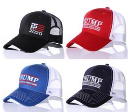 chapeaux beige Promotion Chapeau Fashion Make America Great Again Chapeaux Lettre Imprimée Broderie Donald Trump Casquette De Baseball Président USA Réglable Chapeau En Maille