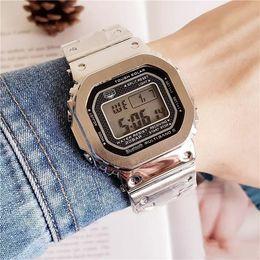 Deutschland Normale Modelle GMW-B5000 DW5600 Outdoor Sport Quarz Herrenuhr Multifunktions wasserdicht und stoßfest LED-Anzeige Freies Verschiffen cheap waterproof shockproof watch Versorgung
