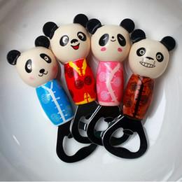 2019 apri di bottiglia a forma di animale Apribottiglie birra forma panda con manico in legno Apribottiglie animali cartone animato per cucina bar apri di bottiglia a forma di animale economici