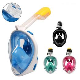 Máscara de mergulho adulto on-line-Adultos e crianças Underwater Máscara de Mergulho LM1300 Snorkel Set treinamento de natação óculos de proteção Mergulho Mergulho cara cheia Mergulho Máscara MMA1672-1
