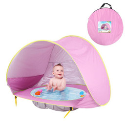 Enfants mat de l'eau en Ligne-Baby Beach Tent Mat Piscine D'eau Baby Kids Beach Tent Protection UV Portable Parasol UV Protéger Sun Shed Kid Tentes Mattess Cadeau