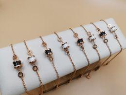 2019 braccialetti in ceramica di zirconia Bracciale da donna 2019 Fashion Classic Sterling Silver Platinum Gold Imported Chain in ceramica braccialetti in ceramica di zirconia economici
