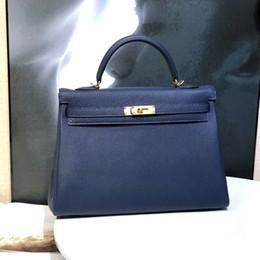 2020 bolsas de azul royal Top usados importados alemão TOGO bezerro Series KL Designer Luxury Handbag Saco das senhoras carteira Royal Blue DHL frete grátis bolsas de azul royal barato