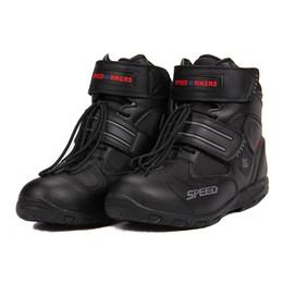 Canada Sports Bottes d'équitation Tribe SPEED BIKERS Confortablement bottes moto racing Chaussures de motocross A005 noir / blanc / rouge Offre