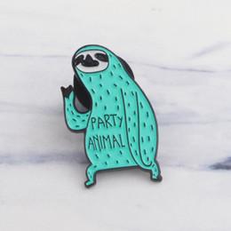 Canada Mignon Vert Paresse Pin Émail Doux Broche Badge Bande Dessinée Animal Broche Pour Femmes Hommes Mode Bouton Vêtements Chapeau Sac Accessoires Offre