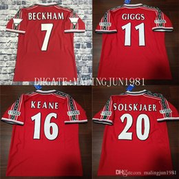 Canada 07 08 Maillot Manchester United Soccer Jersey Ronaldo Giggs Rooney Scholes Nani Vintage League 2007 2008 Maillot UTD Maillot UTD Maillots de Football Rétro Rétro cheap champions league jerseys Offre