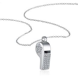 """Nickelfreie silberne ketten online-Solide 925 echtes Sterling Silber klar CZ Stern Herz Pfeife Anhänger Kette Halskette 18 """"für Frauen Mädchen Geschenk Nickel frei"""