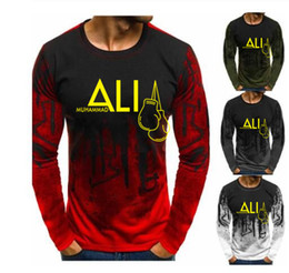 Ali camiseta on-line-New Fashion Muhammad Ali T-shirt dos homens MUHAMMAD ALI camisetas Homens Roupa MMA Cotton T-Shirt Homme Tops Tees