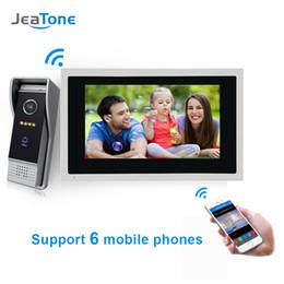 drahtloses türüberwachungssystem Rabatt JeaTone 10 Zoll Wireless WIFI IP-Video-Türsprechanlage Touchscreen-Monitor Zutrittskontrollsystem Bewegungserkennung Home Security