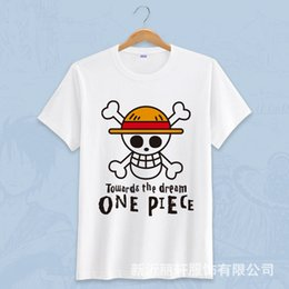 2019 un pezzo camicia luffy New Anime T-shirt One Piece Moda Monkey D Luffy b6f72b4d6073