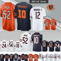 Canada 52 Khalil Mack CHICAGO maillots BEARS 10 Mitchell 39 EDDIE JACKSON 24 Howard 58 Roquan Smit 2019 nouveau maillot hommes cheap bears football jerseys Offre